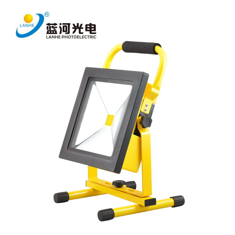 LED rechargeable flood light 30W