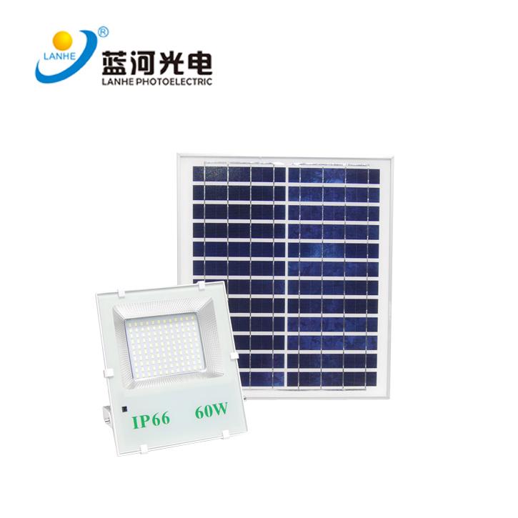 LED solar flood light 60W