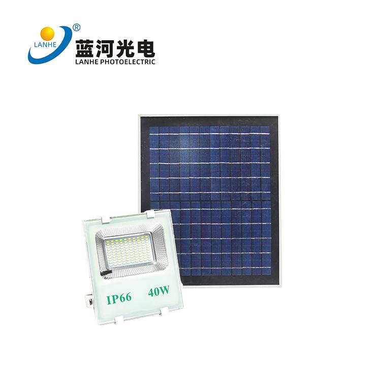 LED solar flood light 40W 图